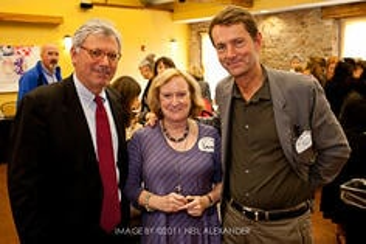 New Bedford's Mayor Scott Lang and Peter Aagaard