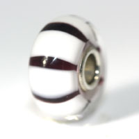 Trollbeads gallery white stripe