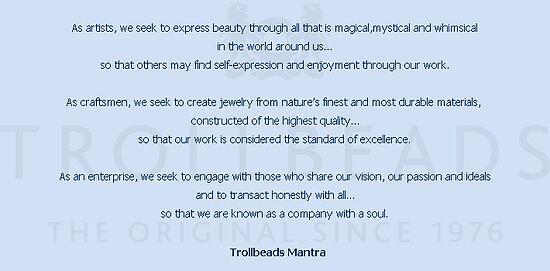 Trollbeads mantra